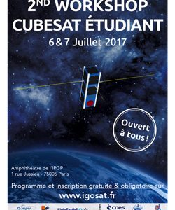 Lancement des inscriptions au 2nd Workshop Cubesat étudiant