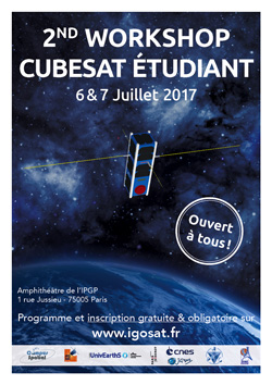 Inscriptions au 2nd Workshop Cubesat Etudiant